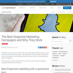 The Best Snapchat Marketing Campaigns and Why They Work
