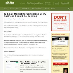 10 Email Marketing Campaigns Every Business Should Be Running