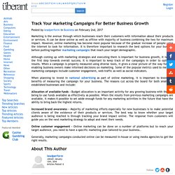 Track Your Marketing Campaigns For Better Business Growth