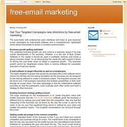 free-email marketing: Get Your Targeted Campaigns new directions by free-email marketing