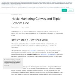 Hack: Marketing Canvas and Triple Bottom Line — Laurent Bouty