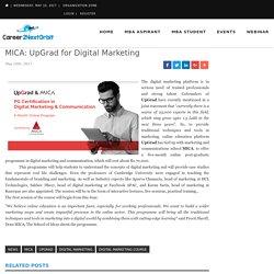 MICA: UpGrad for Digital Marketing