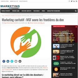 Marketing caritatif : MSF ouvre les frontières du don