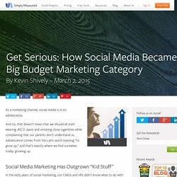 Get Serious: How Social Media Became a Big Budget Marketing Category