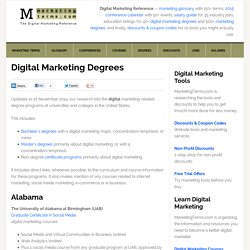 40+ Digital Marketing Degrees & Certificate Programs (US)