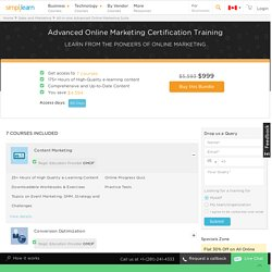 Advanced Online Marketing Certification Training by Certified Experts