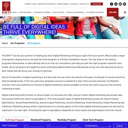 Digital Marketing Courses with certification you can choose from