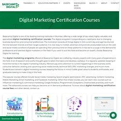 Digital Marketing Certification courses in Mumbai