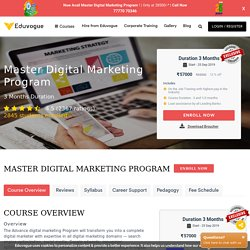 Top 10 Best Digital Marketing Course in Mumbai with placement - Eduvogue