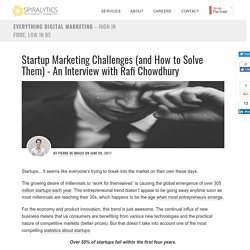 Startup Marketing Challenges (and How to Solve Them) - An Interview with Rafi Chowdhury