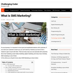 What is SMS Marketing? - Challenging Coder