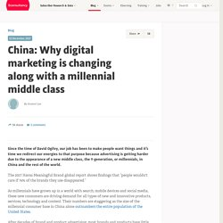 China: Why digital marketing is changing along with a millennial middle class