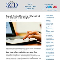 Search Engine marketing overview for Charlotte local businesses
