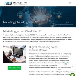 Marketing jobs Charlotte NC