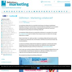 Marketing collaboratif
