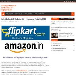 Latest Online Web Marketing Job