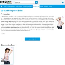 Evian : Etudes, Analyses Marketing et Communication d'Evian