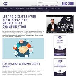 Les trois étapes d'une vente réussie en marketing et communication