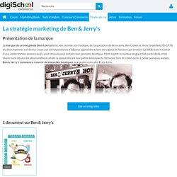 Ben & Jerry's : Etudes, Analyses Marketing et Communication de Ben & Jerry's