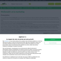 McDonald's : Etudes, analyses Marketing et Communication de McDonald's