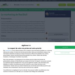 Red Bull : Etudes, analyses Marketing et Communication de Red Bull