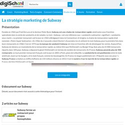 Subway : Etudes, Analyses Marketing et Communication de Subway
