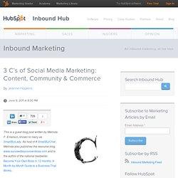 3 C's of Social Media Marketing: Content, Community & Commerce