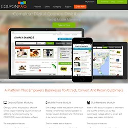 Coupon Software for Marketing & Media Companies:- COUPONPAQ, The Best Web & Mobile Coupon Software
