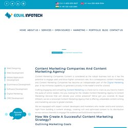 Need Copy Writing Content? Contact Best Content Marketing Agency in India! Equal Infotech