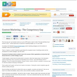 Content Marketing – The Competency Gap