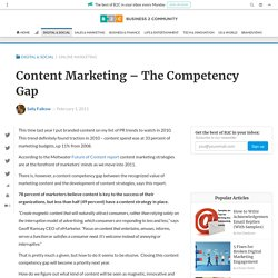 Content Marketing – The Competency Gap | B2C Marketing Insider