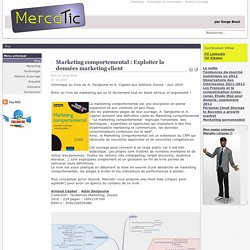 Mercatic - Marketing comportemental : Exploiter la données marketing client