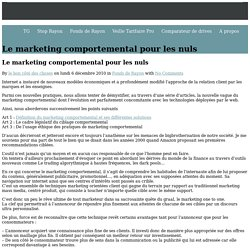 Le marketing comportemental pour les nuls