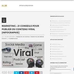 Marketing : 21 conseils pour publier du contenu viral [Infographie]
