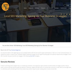 Local SEO Marketing: Spicing Up Your Business' Strategies