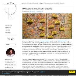 Marketing para contenidos