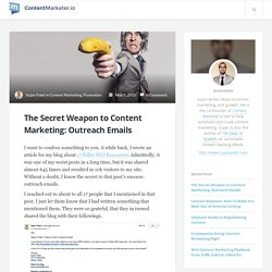 The Secret Weapon to Content Marketing: Outreach Emails
