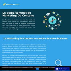 Marketing de contenu: le guide complet