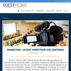 Marketing : l'atout vidéo pour vos contenus - Blog Ouest Médias