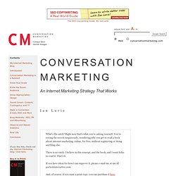 Internet Marketing Strategy Book - Conversation Marketing