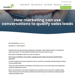 How marketing can use conversations to qualify sales leads - insideUp