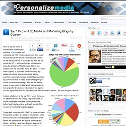 Top 175 (non US) Media and Marketing Blogs by Country