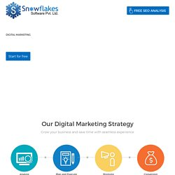 Digital Marketing Company - SEO, SMO, Content Creation - Snowflakes Software