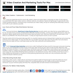 Mac Video Marketing : Content Creation And Submission