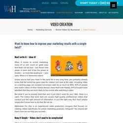 Online Marketing Video Creation