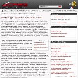 Marketing culturel du spectacle vivant