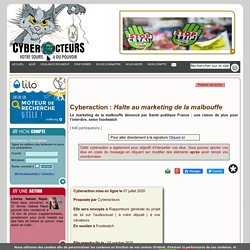 Cyberaction : Halte au marketing de la malbouffe