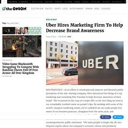 Uber Hires Marketing Firm To Help Decrease Brand Awareness