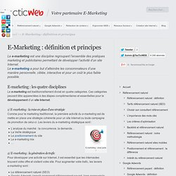 E-Marketing : Définition et Principes