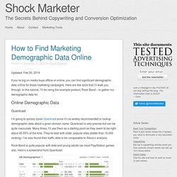 How to Find Marketing Demographic Data Online
